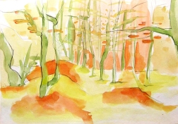 """ The Forest"" Watercolor painting"